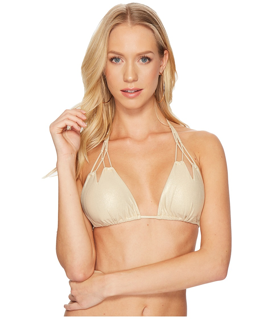 Luli Fama Cosita Buena Zigzag Knotted Cut Out Triangle Bikini Top L176283-710