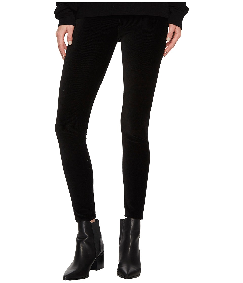 Vince Stretch Corduroy Leggings (Black) Women's Clothing