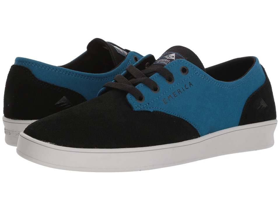 Emerica - The Romero Laced X Toy Machine (Black/Turquoise) Mens Skate Shoes