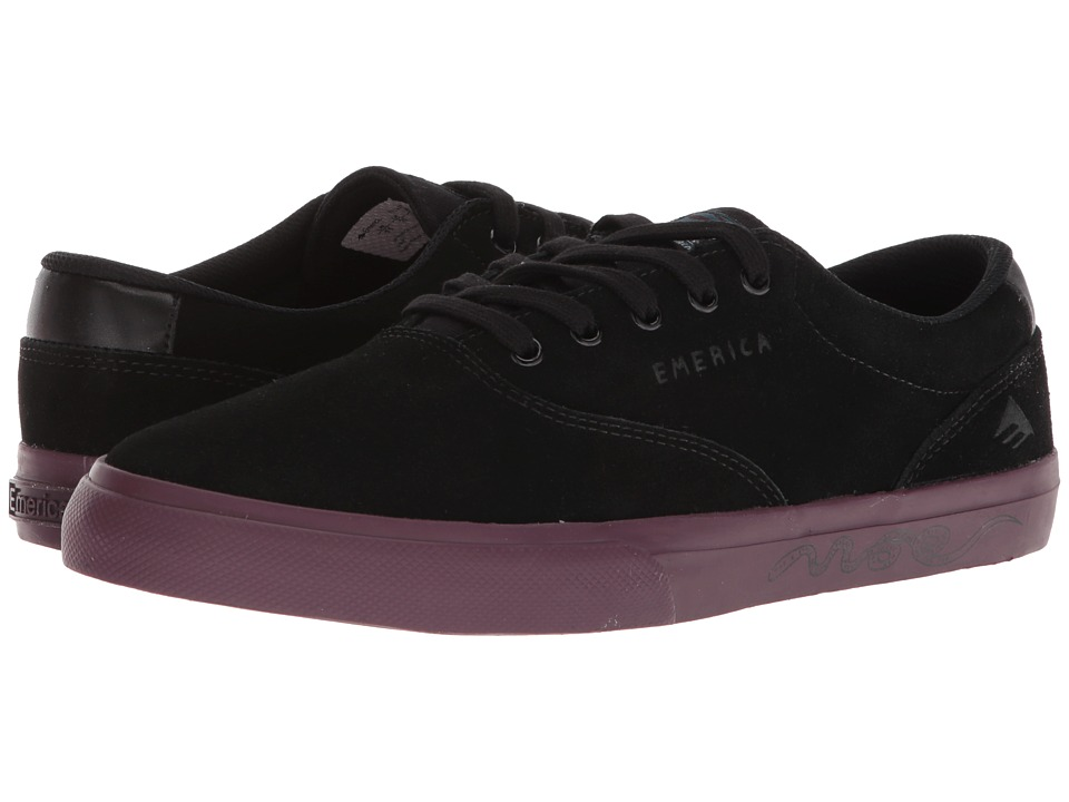 Emerica - The Provost Slim Vulc X Toy Machine (Black/Purple) Mens Skate Shoes