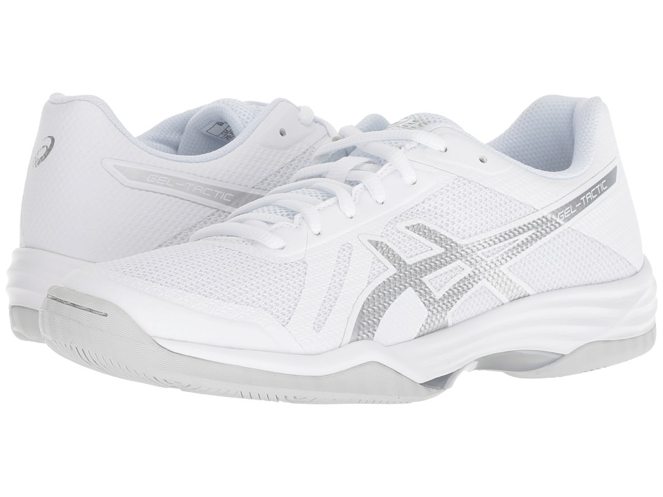 ASICS Gel-Tactic 2 (Real White/Silver) Women's Volleyball Shoes