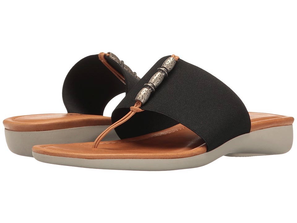 The FLEXX Rain Maker (Black Elastic/Cognac Vacchetta) Women's Shoes