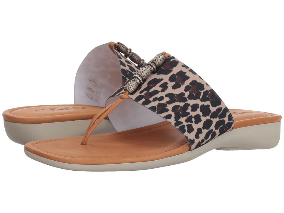 Flexx Rain Maker (Dune/Cognac Leopard Elastic) Women's Shoes