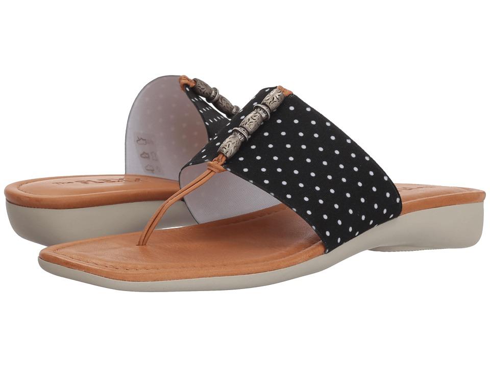 The FLEXX Rain Maker (Black Dots Elastic) Women's Shoes