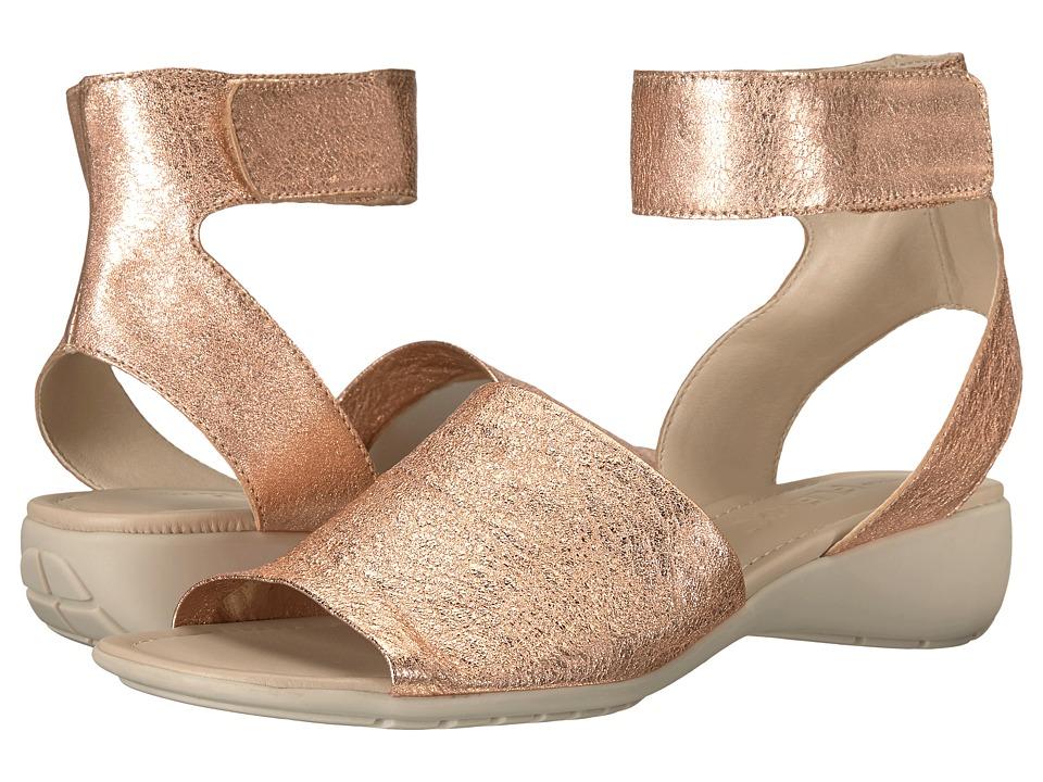 The FLEXX Beglad (Rose Gold Crackele) Sandals