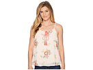 Miss Me Miss Me Front Flower Embroidered Tank Top