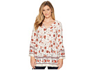 Miss Me Miss Me Floral V-Neck Bell Sleeve Tunic