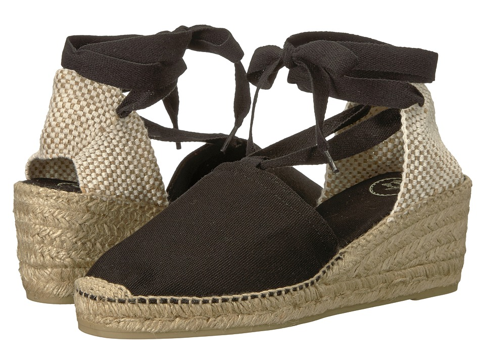 Toni Pons - Valencia (Black Canvas) Womens Shoes