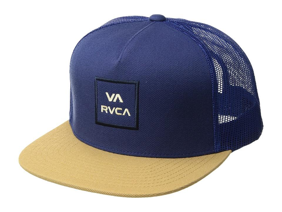 RVCA - VA All The Way Trucker (Navy/Khaki) Caps