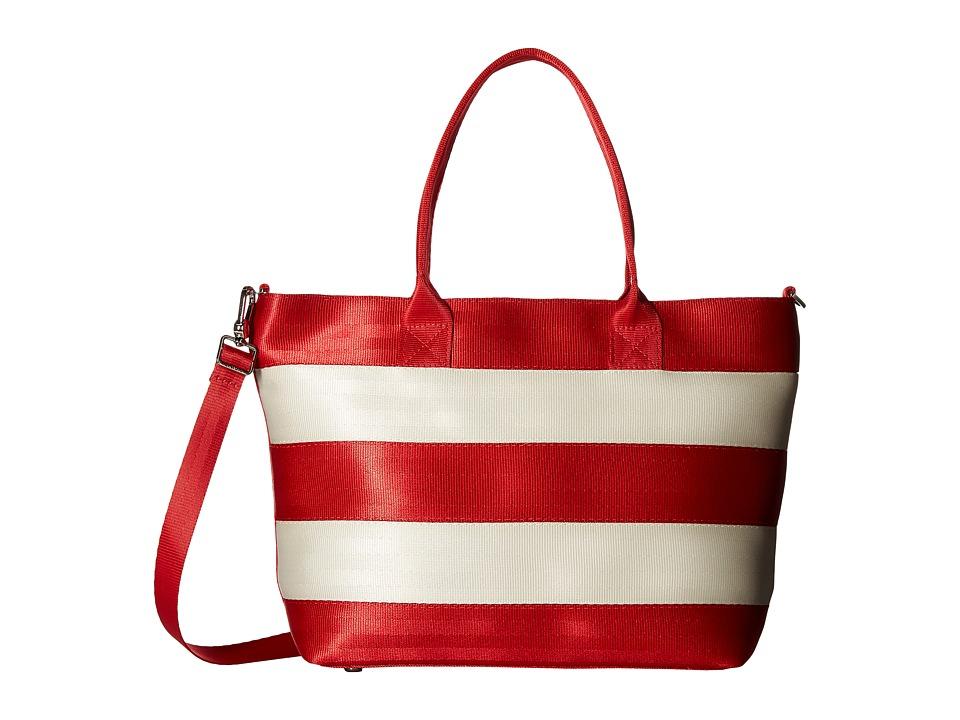 Harveys Seatbelt Bag - Mini Streamline Tote (Candy Cane) Tote Handbags