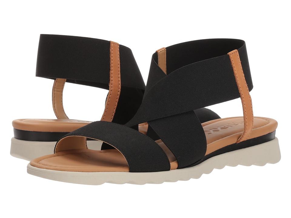 Flexx Extra (Black/Cognac Elastic) Women's Shoes