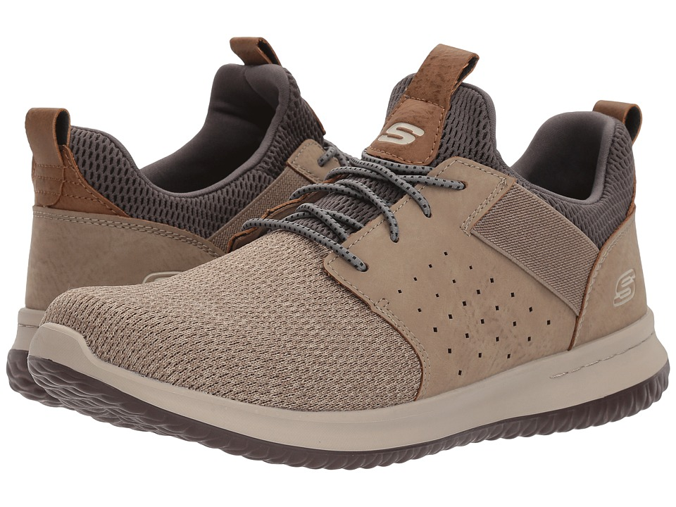 SKECHERS Classic Fit Delson Camben (Taupe) Men