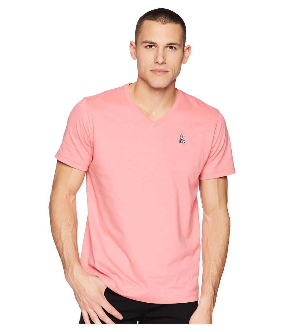 Psycho Bunny - Classic V-Neck T-Shirt (Confetti) Mens T Shirt