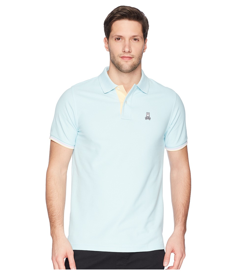 Psycho Bunny - St. Croix Polo (Cerulean) Mens Short Sleeve Pullover