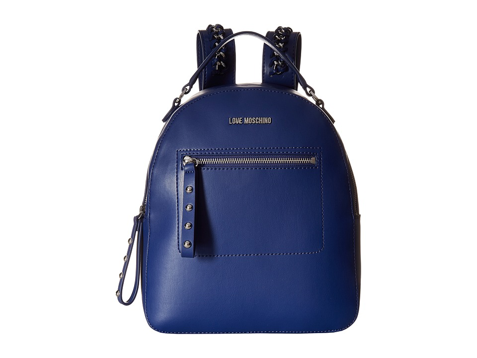 LOVE Moschino - Chain Strap Backpack (Navy) Backpack Bags
