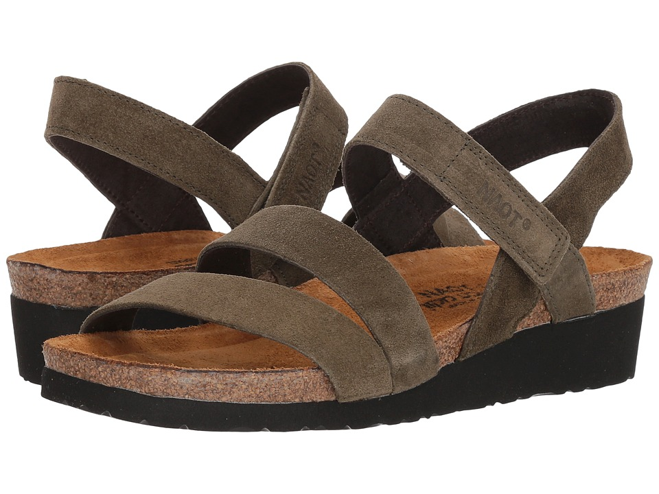 Naot Kayla (Oily Olive Suede) Sandals