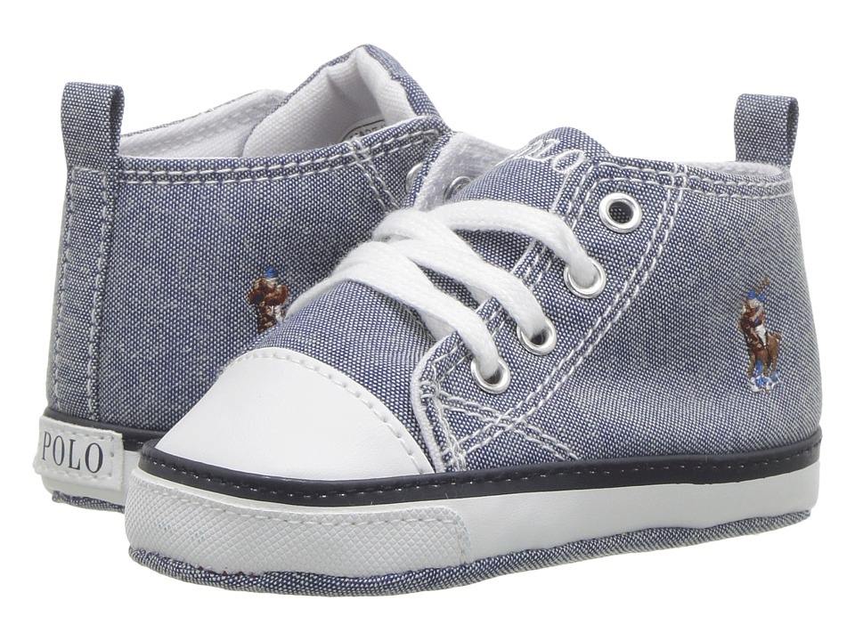 Polo Ralph Lauren Kids Hamptyn Hi (Infant/Toddler) (Light Blue  Chambray/Multi Pony Player) Girl\u0027s Shoes
