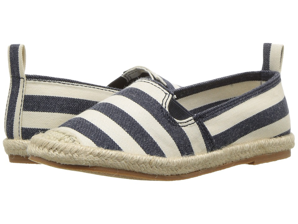 Polo Ralph Lauren Kids - Beakon (Little Kid) (White/Navy Striped) Girls Shoes