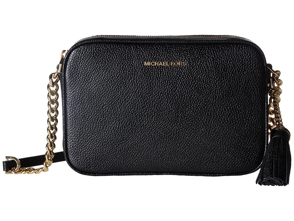 Michael Kors Ginny Medium Camera Bag (Black 2) Bags