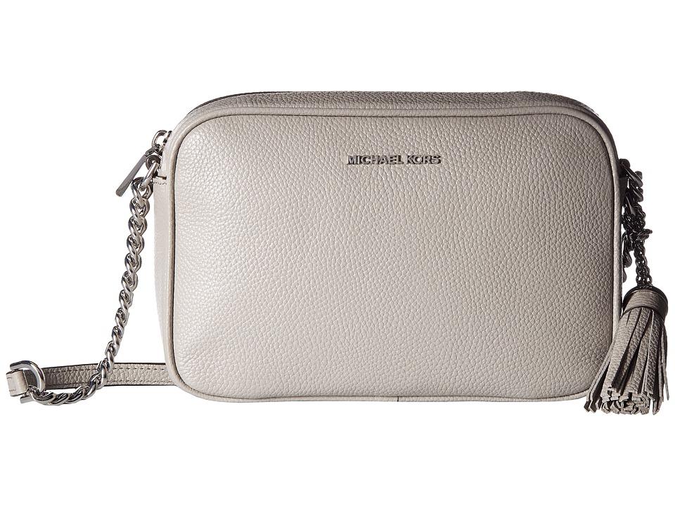 MICHAEL Michael Kors Ginny Medium Camera Bag (Pearl Grey) Bags