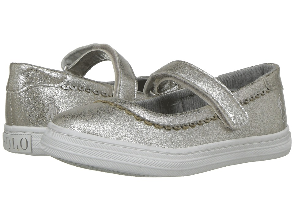 Ralph Lauren Pella (Toddler) (Silver Sparkle/Silver Pony Player) Girl's Shoes