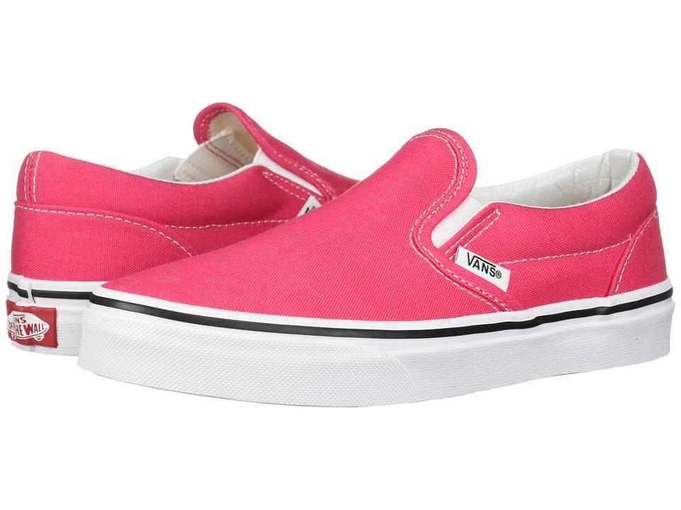 Vans Kids Classic Slip-On (Little Kid/Big Kid) (Azalea/True White) Girls Shoes