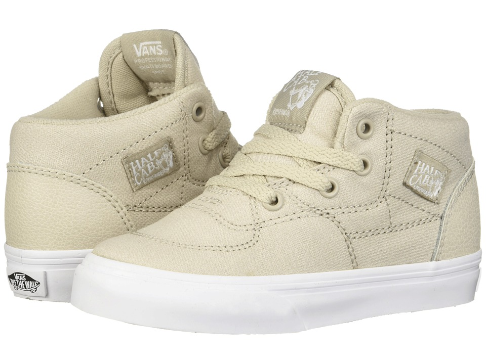 Vans Kids - Half Cab (Toddler) ((Suiting) Silver Lining/True White) Boys Shoes