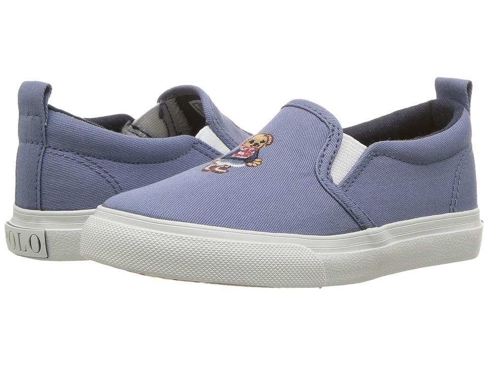 Polo Ralph Lauren Kids - Carlee Bear (Toddler/Little Kid) (French Blue Washed Chino/Americana Girl Bear) Girls Shoes