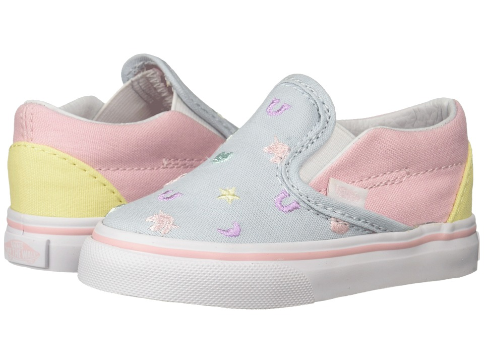 Vans Kids - Classic Slip-On (Infant/Toddler) ((Charms) Embroidery/Multi) Girls Shoes