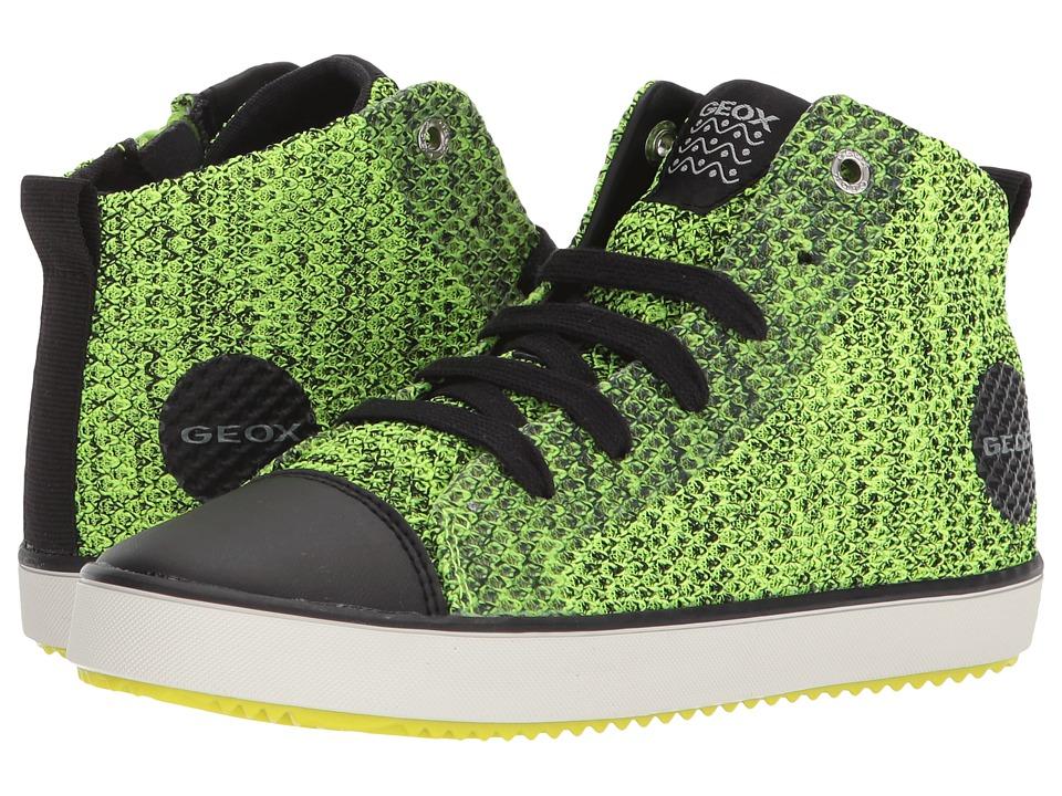 Geox Kids - Alonisso 19 (Little Kid/Big Kid) (Lime/Black) Boys Shoes