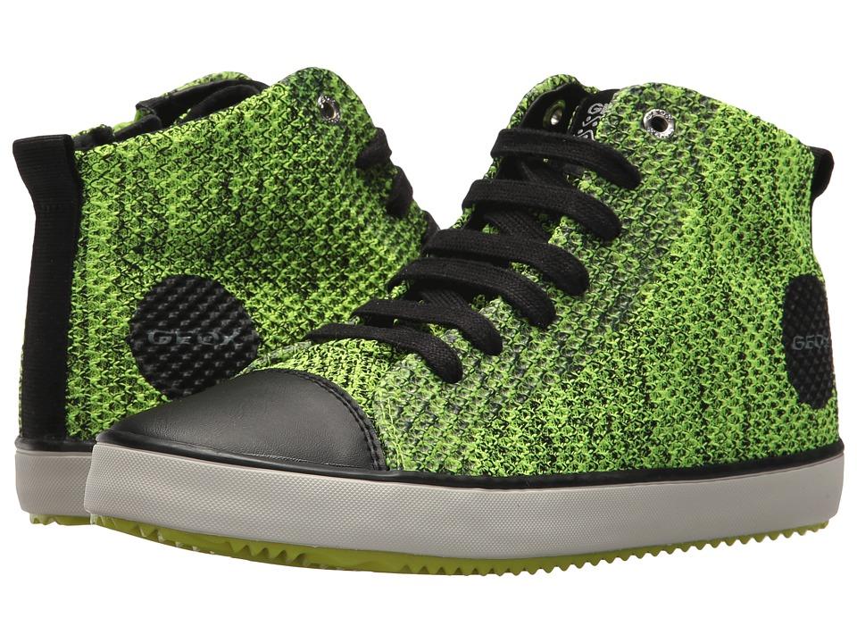Geox Kids - Alonisso 19 (Big Kid) (Lime/Black) Boys Shoes