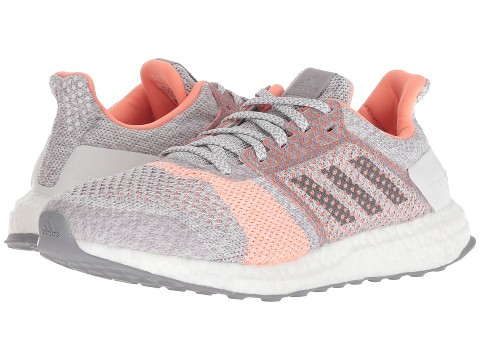 adidas Running UltraBOOST ST (Crystal White/Grey Four/Clear Orange) Women's Running Shoes