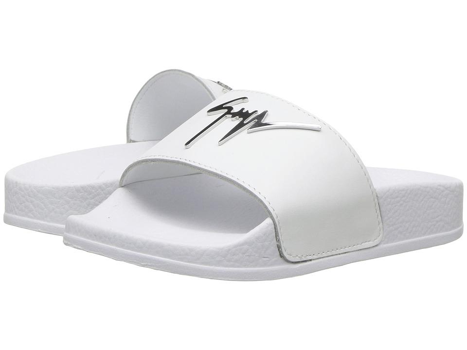 Giuseppe Zanotti Kids - Birel Slide (Toddler/Little Kid) (White) Kids Shoes