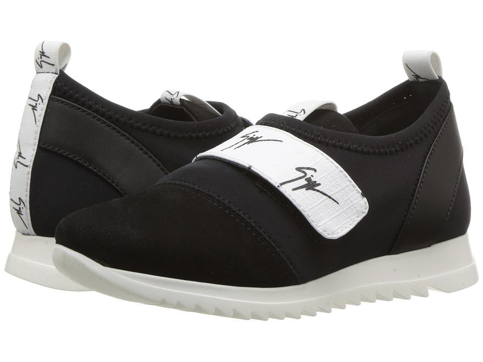 Giuseppe Zanotti Kids - Singles Sneaker (Toddler/Little Kid) (Black/White) Kids Shoes