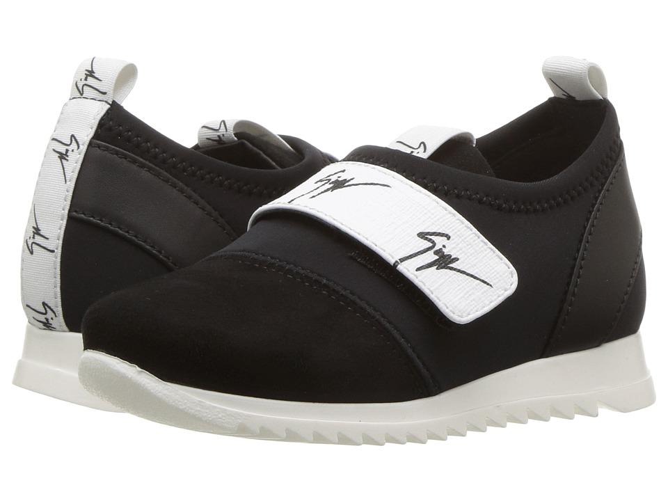 Giuseppe Zanotti Kids - Singles Sneaker (Toddler) (Black/White) Kids Shoes