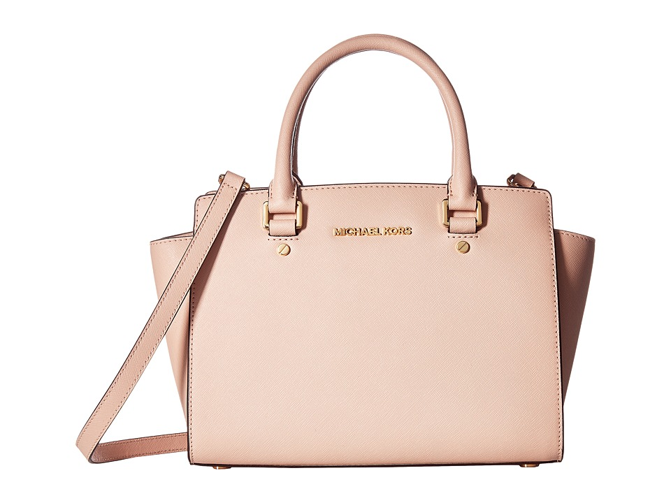 MICHAEL Michael Kors - Selma Medium Top-Zip Satchel (Soft Pink) Satchel Handbags