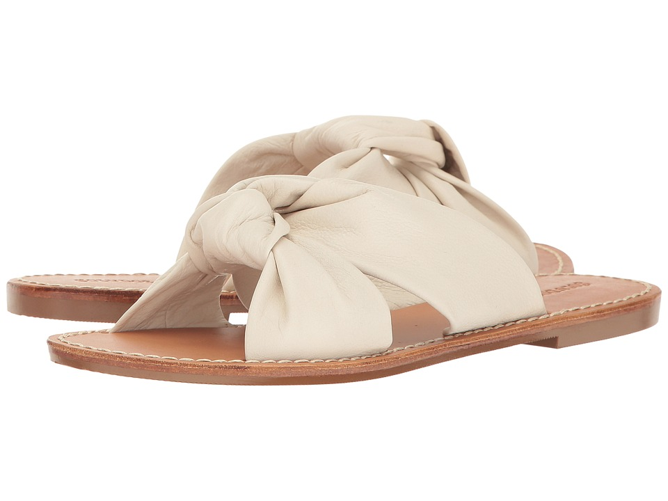Soludos - Knotted Slide Sandal (Ivory) Women's Sandals