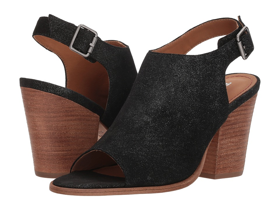Trask Parker (Black Metallic Suede) Women's Hook and Loop Shoes