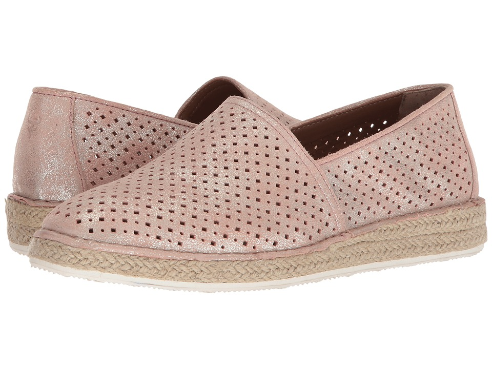 Trask Paige (Blush Metallic Suede) Flats