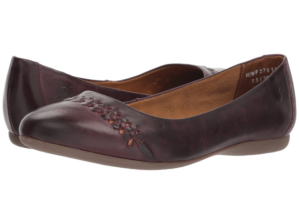 Born Madeleine (Purple Full Grain Leather) Flats