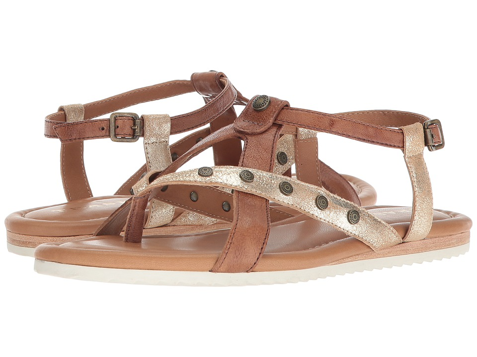 Trask Shayla (Teak Washed Sheepskin/Gold Metallic Sheepskin) Sandals