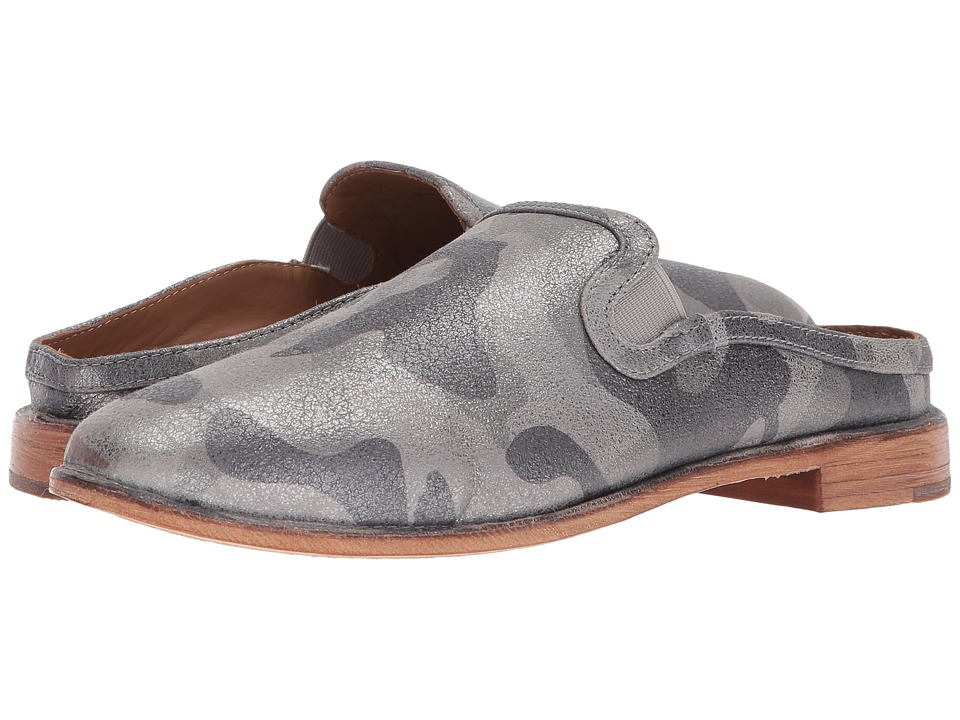 Trask Ashley (Pewter Camo Metallic Suede) Women's Dress Flat Shoes