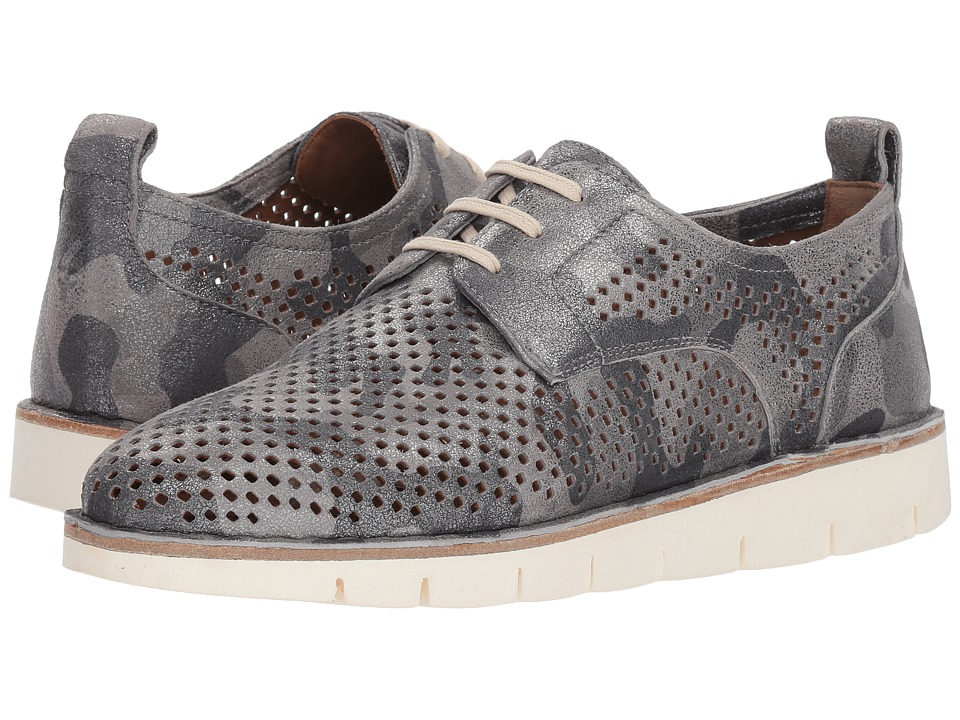 Trask Lena (Pewter Camo Metallic Suede) Flats