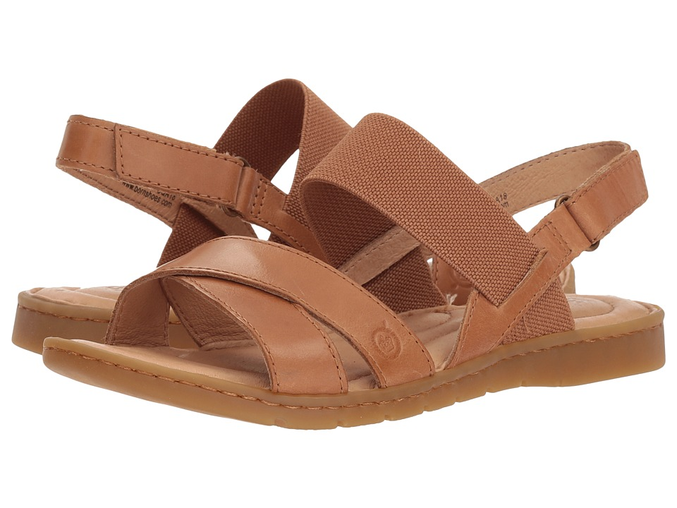 Born Zinnia (Light Brown Full Grain Leather) Sandals