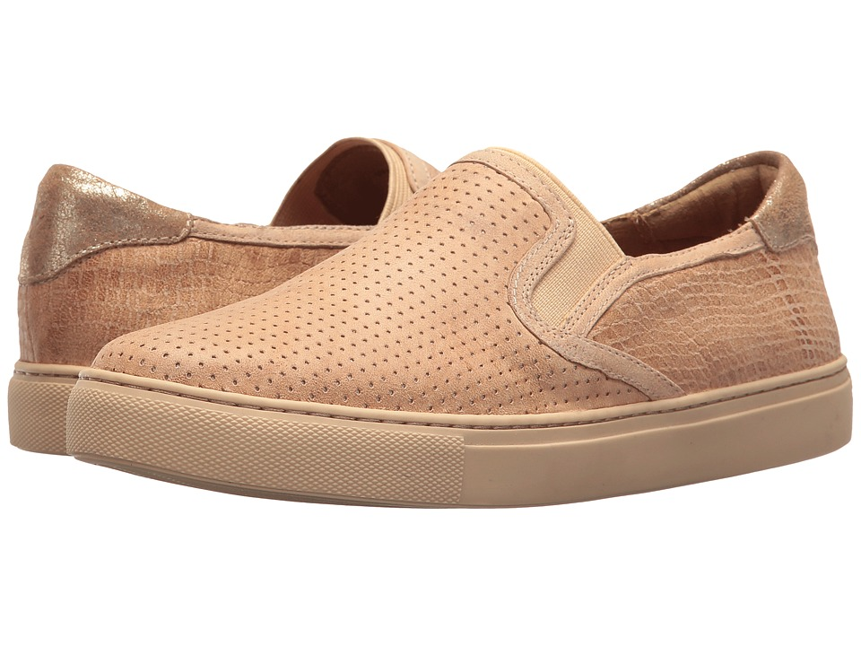 Trask Lillian (Beige Washed Sheepskin/Croc) Slip-On Shoes