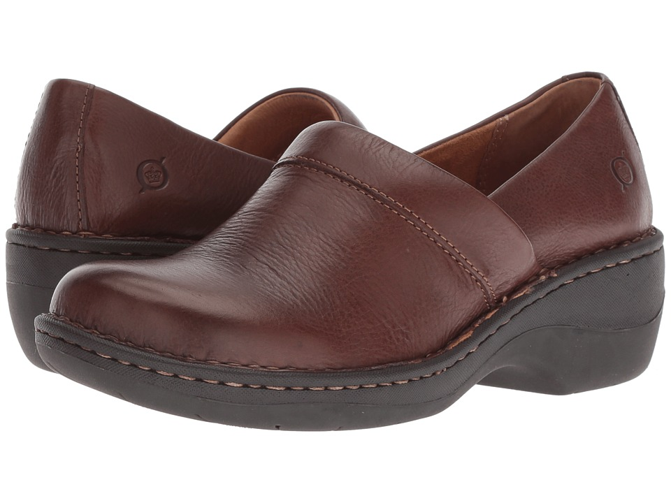 Born Toby Duo (Chocolate Full Grain Leather) Slip-On Shoes