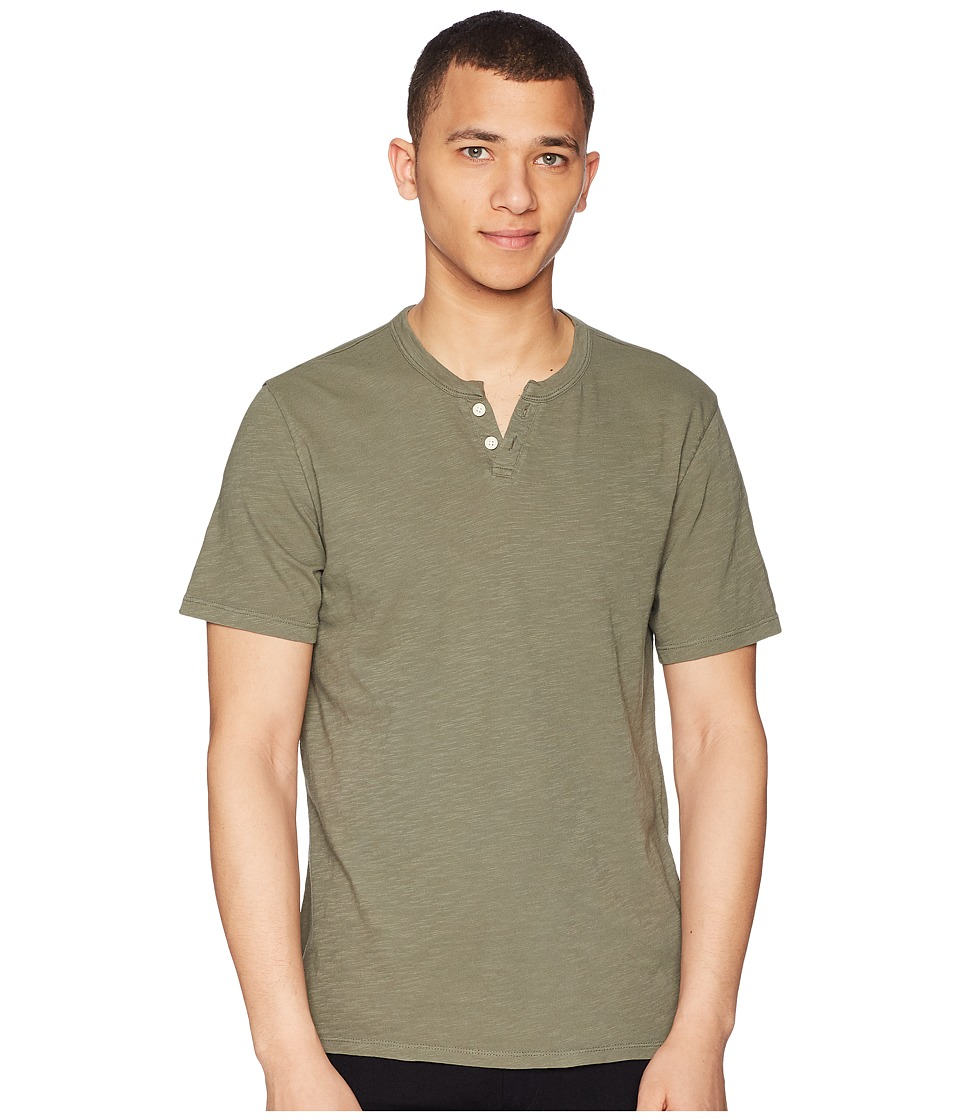 Joes Jeans - Wintz Short Sleeve Slub Henley (Fatigue) Mens Clothing