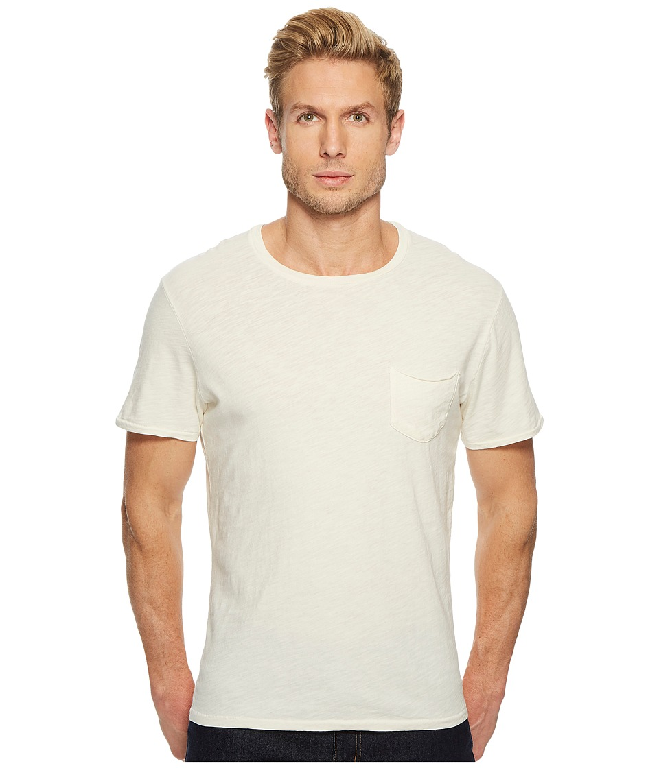 Joes Jeans - Chase Raw Edge Short Sleeve Crew (Birchwood) Mens Short Sleeve Pullover