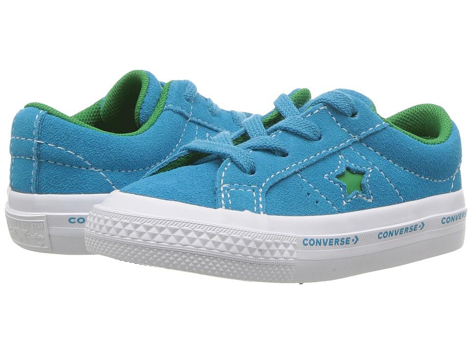Converse Kids - One Star - Ox (Infant/Toddler) (Hawaiian Ocean/Jolly Green/White) Kids Shoes