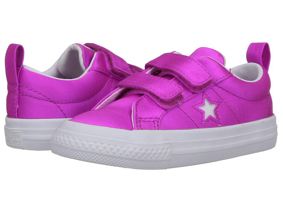 Converse Kids - One Star - Ox (Infant/Toddler) (Hyper Magenta/White/White) Girls Shoes
